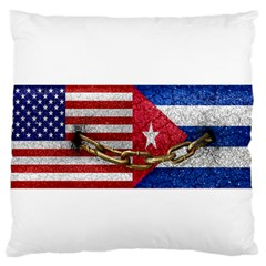 United States and Cuba Flags United Design Standard Flano Cushion Case (Two Sides)