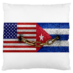 United States and Cuba Flags United Design Large Flano Cushion Case (One Side)