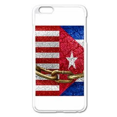 United States and Cuba Flags United Design Apple iPhone 6 Plus Enamel White Case