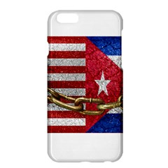 United States and Cuba Flags United Design Apple iPhone 6 Plus Hardshell Case