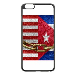 United States and Cuba Flags United Design Apple iPhone 6 Plus Black Enamel Case