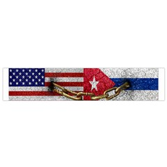 United States And Cuba Flags United Design Flano Scarf (small)