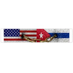 United States and Cuba Flags United Design Flano Scarf (Large)
