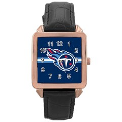 Tennessee Titans National Football League Nfl Teams Afc Rose Gold Leather Watch