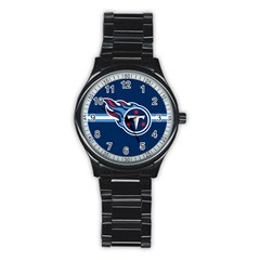 Tennessee Titans National Football League Nfl Teams Afc Sport Metal Watch (black)