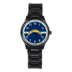 San Diego Chargers National Football League Nfl Teams Afc Sport Metal Watch (Black)