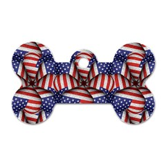 Modern Usa Flag Pattern Dog Tag Bone (one Sided)