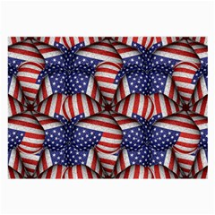 Modern Usa Flag Pattern Glasses Cloth (large, Two Sided)