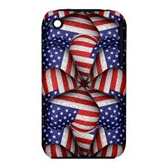 Modern Usa Flag Pattern Apple iPhone 3G/3GS Hardshell Case (PC+Silicone)