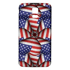 Modern Usa Flag Pattern Samsung Galaxy S5 Back Case (White)