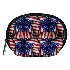 Modern Usa Flag Pattern Accessory Pouch (Medium)