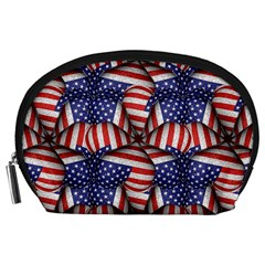 Modern Usa Flag Pattern Accessory Pouch (large)