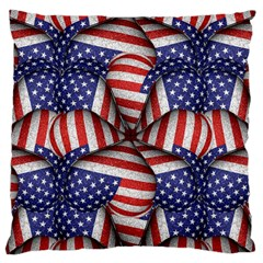 Modern Usa Flag Pattern Large Flano Cushion Case (Two Sides)