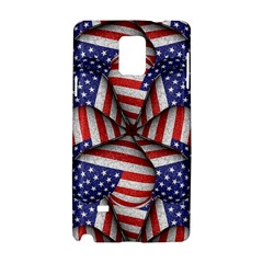 Modern Usa Flag Pattern Samsung Galaxy Note 4 Hardshell Case