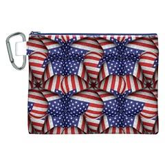 Modern Usa Flag Pattern Canvas Cosmetic Bag (XXL)