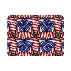 Modern Usa Flag Pattern Double Sided Flano Blanket (Mini)