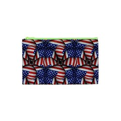 Modern Usa Flag Pattern Cosmetic Bag (XS)