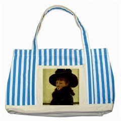 Kathleen Anonymous Ipad Blue Striped Tote Bag