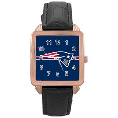 New England Patriots National Football League Nfl Teams Afc Rose Gold Leather Watch