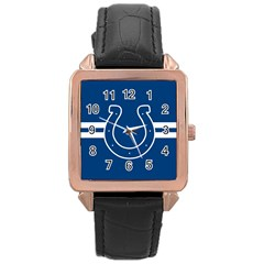 Indianapolis Colts National Football League Nfl Teams Afc Rose Gold Leather Watch