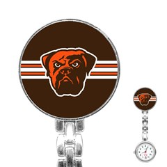 Cleveland Browns National Football League Nfl Teams Afc Stainless Steel Nurses Watch