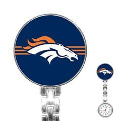 Denver Broncos National Football League Nfl Teams Afc Stainless Steel Nurses Watch