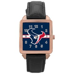 Houston Texans National Football League Nfl Teams Afc Rose Gold Leather Watch