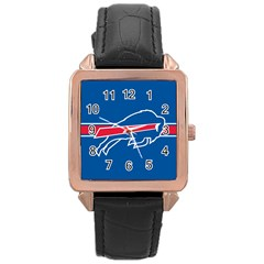 Buffalo Bills National Football League Nfl Teams Afc Rose Gold Leather Watch