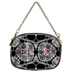 Bling Black Grey  Chain Purse (two Sided)
