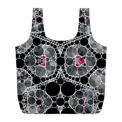 Bling Black Grey  Reusable Bag (L)