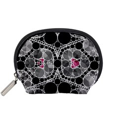 Bling Black Grey  Accessory Pouch (Small)