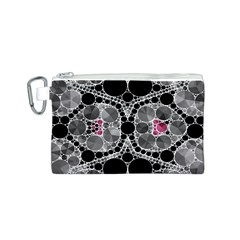 Bling Black Grey  Canvas Cosmetic Bag (Small)