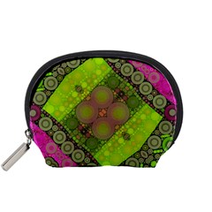 Florescent Pink Green  Accessory Pouch (small)