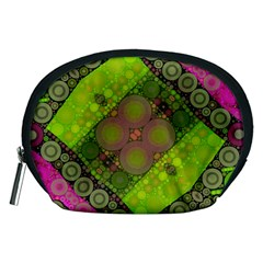 Florescent Pink Green  Accessory Pouch (medium)