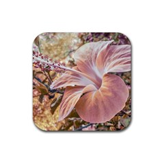 Fantasy Colors Hibiscus Flower Digital Photography Drink Coaster (square)