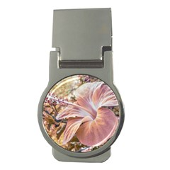 Fantasy Colors Hibiscus Flower Digital Photography Money Clip (round)
