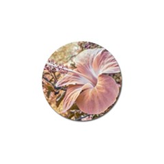 Fantasy Colors Hibiscus Flower Digital Photography Golf Ball Marker 4 Pack