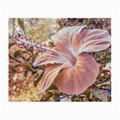 Fantasy Colors Hibiscus Flower Digital Photography Glasses Cloth (small, Two Sided)