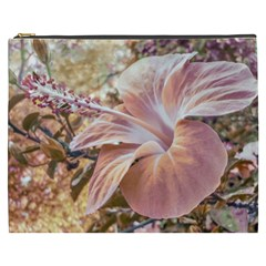 Fantasy Colors Hibiscus Flower Digital Photography Cosmetic Bag (xxxl)
