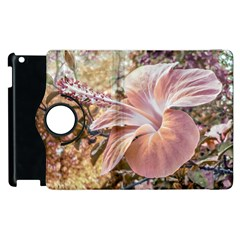 Fantasy Colors Hibiscus Flower Digital Photography Apple iPad 3/4 Flip 360 Case