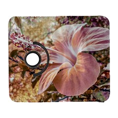 Fantasy Colors Hibiscus Flower Digital Photography Samsung Galaxy S  III Flip 360 Case