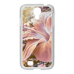 Fantasy Colors Hibiscus Flower Digital Photography Samsung Galaxy S4 I9500/ I9505 Case (white)