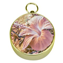 Fantasy Colors Hibiscus Flower Digital Photography Gold Compass