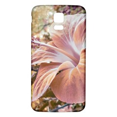 Fantasy Colors Hibiscus Flower Digital Photography Samsung Galaxy S5 Back Case (White)