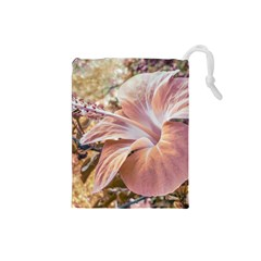 Fantasy Colors Hibiscus Flower Digital Photography Drawstring Pouch (Small)
