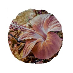 Fantasy Colors Hibiscus Flower Digital Photography 15  Premium Flano Round Cushion