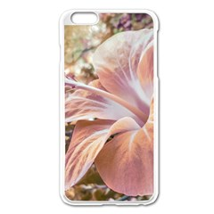 Fantasy Colors Hibiscus Flower Digital Photography Apple Iphone 6 Plus Enamel White Case