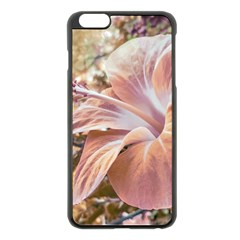 Fantasy Colors Hibiscus Flower Digital Photography Apple iPhone 6 Plus Black Enamel Case