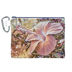 Fantasy Colors Hibiscus Flower Digital Photography Canvas Cosmetic Bag (XL)