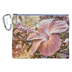 Fantasy Colors Hibiscus Flower Digital Photography Canvas Cosmetic Bag (XXL)